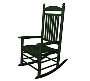POLYWOOD Outdoor Furniture Jefferson Rocker, Green-Recycled Plastic ...