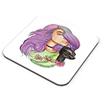 PosterGuy Coasters - Pencil Watercolor Cat Girl Illustrate. | Designed By: Anniez Artwork