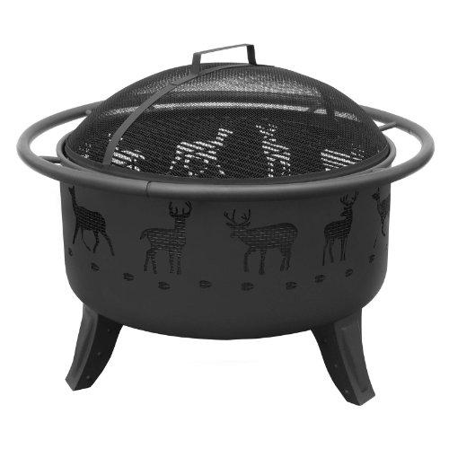 Landmann-Patio-Lights-Deer-Fire-Pit-Black