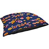 Thumbprintz Fleece Top Large Breed Pet Bed, Hypnotic Circles, Multi Colored