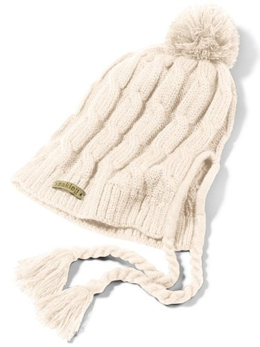Oakley Women's Allee Earflap Beanie, Light Cream, One Size