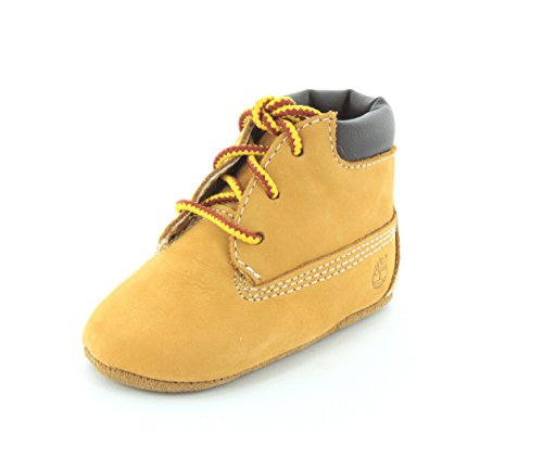 Timberland Baby-Boys Infant Crib Bootie And Hat Set Wheat Boot - 4 front-985574