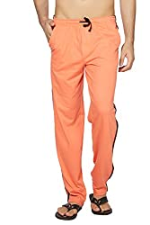 Clifton Mens Coloured Track Pants - Deep Orange - Large
