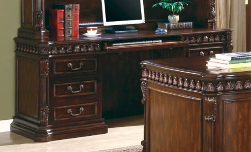 Buy Low Price Comfortable Home Office Computer Desk in Rich Brown Finish (B0044FVHBS)
