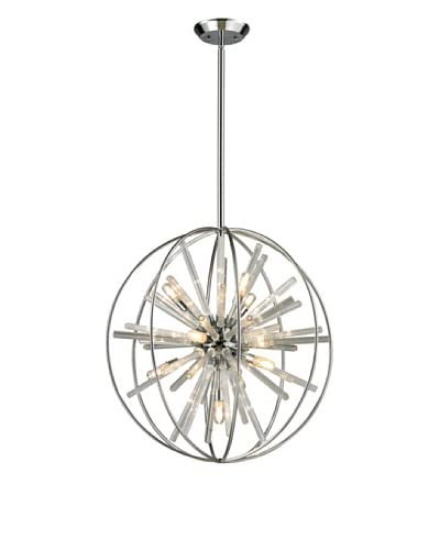Artistic Lighting Twilight Collection 10-Light Pendant, Polished Chrome