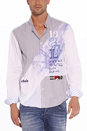 Desigual - Chemise - Homme - Blanc (1000 Blanco) - Small
