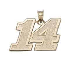 Tony Stewart 1 2 Medium Driver Number 14 Pendant - 10KT Gold Jewelry by Logo Art