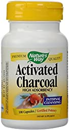 Nature\'s Way Activated Charcoal, 100 Capsules 100