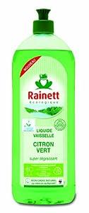 Rainett  Liquide Vaisselle Ecologique au Citron Vert Super Dgraissant Ecolabel  750 ml  Lot de 4