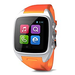 Generic X1 Smartwatch Android 4.4 3G WCDMA Bluetooth Smart Watch Phone 5.0M Camera Waterproof GPS WIFI Muilti Language for Android Phones (Orange)