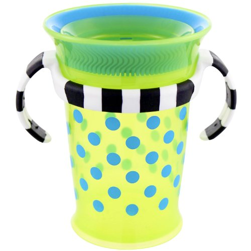 Sassy Grow up Cup No Spill, No Spout Design 7oz - 9 Months, Green - 1