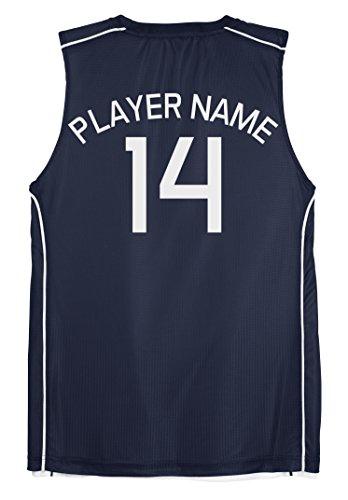 Men's Reversible Basketball Tee Jersey - Custom Name & Number on Back of Both Sides
