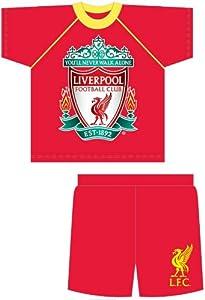 Season Boys Liverpool Fc Short Pyjamas Nightwear Sleepwear 5-6 Years