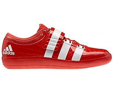 ADIDAS adizero Shotput 2 Unisex Shoes, Red/White, UK6.5