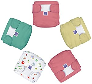 Bambino Mio Miosoft Reusable Nappy Cover (Pack of 5, 9 - 12 Kg, Girls Mix1)