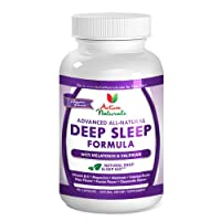 #1 Deep Sleep Supplement - Advanced Sleep Support Formula - All Natural Formulated with Melatonin, Passion Flower, Hops Flower, Chamomile Flower and Valerian Root for Revitalizing Sleep & Relaxation During Sleep Cycle - 45 Days Supply