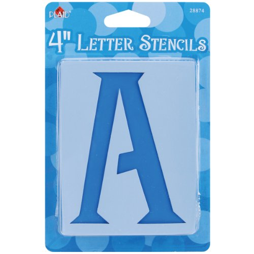 Plaid 28874 Letter Stencil Value Pack, 4-Inch Genie