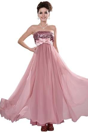 eDressit Robe de Mariage/Bapteme Sans Bretelles Rose Paillettes sur mesure