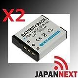 2個セット カシオNP-130用 リチウムイオン充電池 EX-ZR100/H30用 NP-130 CASIO【JAPANNEXT】【JAPANNEXT】 保障付(2XJN-BAT)