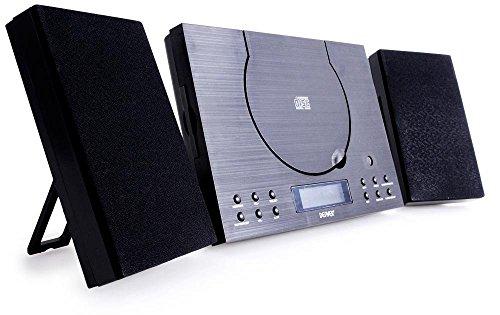 Denver MC-5010 Musik-Center (CD-R/RW, AUX-In, Wandhalterung, Weckerradio) schwarz