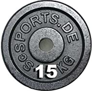 Buy ScSPORTS Cast Iron Dumbbell - 15 kg Review-image