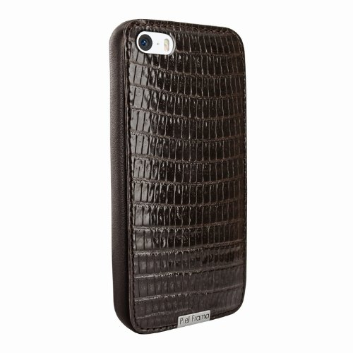 Special Sale Apple iPhone 5 / 5S Piel Frama Brown Lizard FramaGrip Leather Cover
