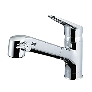LIXIL(リクシル) INAX 浄水器内蔵シングルレバー混合水栓 エコハンドル 浄水 微細シャワー整流 ホース引出し RJF-771Y