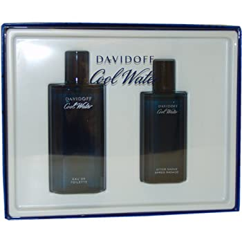COOL WATER by Davidoff for Men EDT SPRAY 4.2 OZ & AFTERSHAVE 2.5 OZ lavender, jasmine, oakmoss, musk, sandalwood.