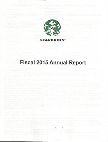 2015-starbucks-annual-report-nasdaq-stock-exchange-howard-schultz-ceo-rare-neat-near-mint