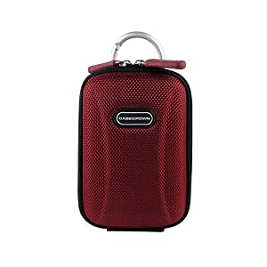 CaseCrown Hard Shell Case Cover (Red Crimson) with Ring Clasp for Canon PowerShot ELPH 110 HS Point and Shoot Digital Camera