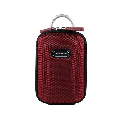 CaseCrown Hard Shell Case (Crimson) for Canon Powershot Point and Shoot Digital Camera