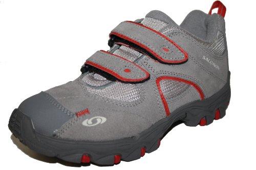 Salomon, Sportschuhe, 278431, Unisex - Kinder Schuhe, Grau (pewter/mid grey/bright red), EU 33