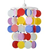 Children's Bedroom/Nursery Multi Coloured Polka Dot Spots Ceiling Pendant Light Shade