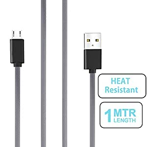 small candy Nylon Braided Micro USB Cable with Super fast charging up to 2.4Amps For Huawei M865 -Black