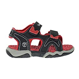 Timberland Adventure Seeker 2Strap Infants Toddlers Baby Sandals Black/Red tb03480a (5 M US)