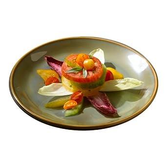 "Homer Laughlin China Pesto Empire 10-3/8"" Coupe Plate"