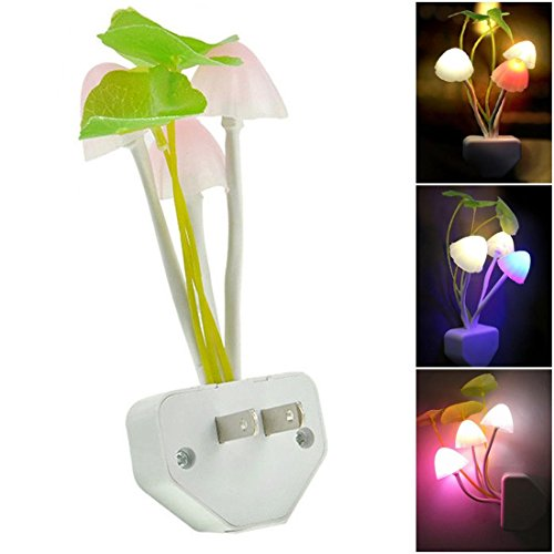1Pc Howling Night Light Home Decor Romantic Gift Colorful Multi-Color Changing with US Plug