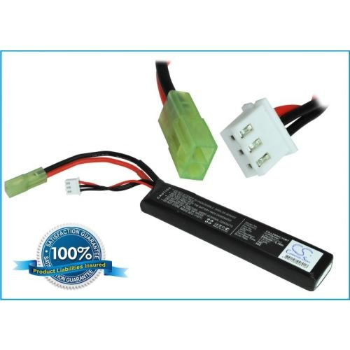 850mAh Battery for LP850S2C013 Airsoft Guns (Discharge Plug: Mini Tamiya, Charge Plug: JST-XHR-3P)