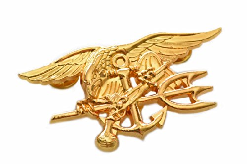 39 NAVY SEALs Special Warfare 特殊部隊 バッジ 金属製 徽章 レプリカ 金色
