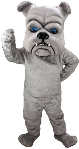 Grey Bulldog Lightweight Mascot Costume