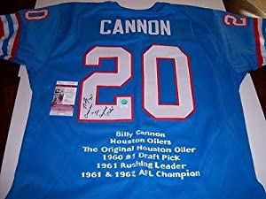 Signed Billy Cannon Jersey - Houston Oilers heisman Jsa coa - Autographed College... by Sports+Memorabilia