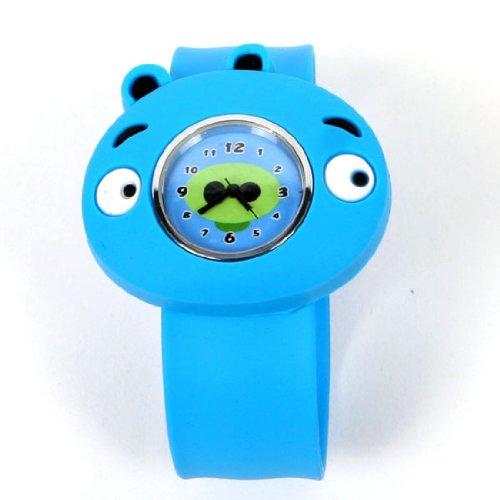 Shot-in Blue Cute Cartoon Panda Candy WATCH Rubber