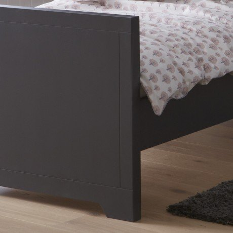 Alfred & Compagnie - Pack promo lit anthracite + matelas Charline