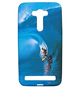 Exclusive Rubberised Back Case Cover For Asus Zenfone 2 Laser (5.5 inch) Lazer Sketing Men