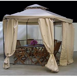 pavillon 6 eckig der niedrigste preis eines hergestellt f r dema metall pavillon online shop. Black Bedroom Furniture Sets. Home Design Ideas
