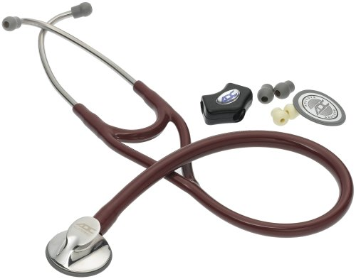 American Diagnostic Corporation Adscope 600 Platinum Cardiology Stethoscope, Burgundy