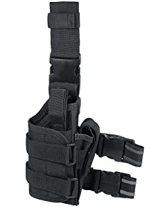 UTG Adjustable Right Handed Leg Holster for Pistol, Black