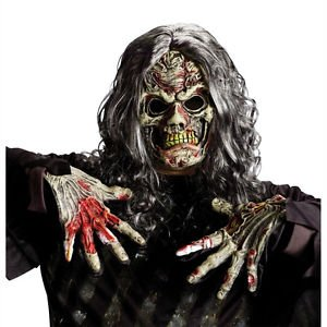 [Cryptic Creatures Zombie Adult Costume Mask Fun World 8517-ZOM] (Jack Torrance Costume)