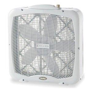 Portable Box Fan, 22-7/8 In. H, 120V
