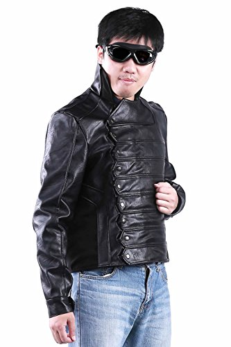 Men's TWS Bucky Barnes Fighting Jacket Cosplay Costume for Movie